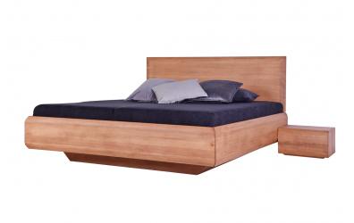 Manželská postel LEVITY čelo rovné - BUK