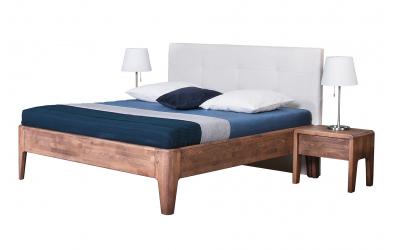 Manželská postel FANTAZIE čelo čalouněné 180 cm dub cink