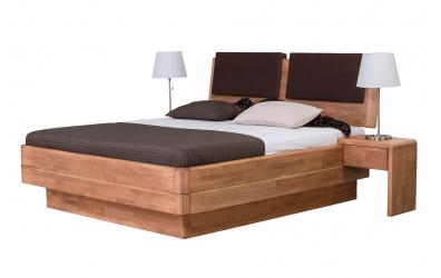 Manželská postel FANTAZIE Grande nastavitelné čelo šikmé 180 cm buk cink